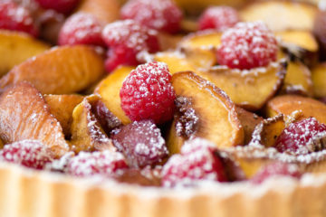 Roasted Peach Tart with Vanilla & Cardamom