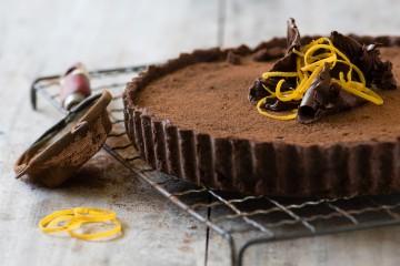 Bitter Chocolate & Marmalade Tart