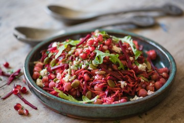Raw Energy Salad with Pomegranate Molasses Dressing